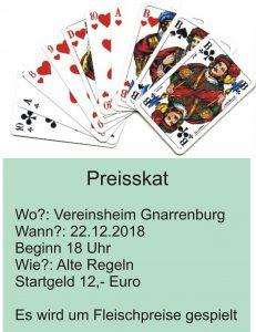 Preisskat @ Vereinsheim
